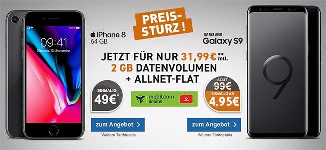 2GB Mobilcom Debitel Comfort Allnet - Angebote August 2018