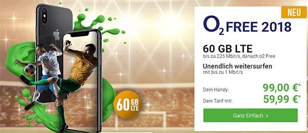 o2 Free L (bis zu 60GB LTE) - Angebote Juni 2018