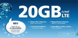 o2 Free M Boost (bis zu 20 GB LTE) Angebote Juni 2018