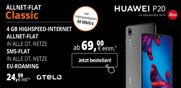 4 GB LTE otelo Allnet-Flat Classic Highspeed Angebote