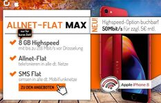 8GB otelo Allnet-Flat Max - Angebote Mai 2018