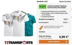 Vodafone 2GB Allnet Flat mit DFB WM Trikot 2018 für 4,99€