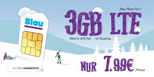 3GB Blau Allnet L für 7,99€ mit JBL Free X Kopfhörer für 39€