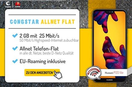 Congstar Tarife (auch mit LTE) - Angebote Juni 2018