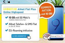 Congstar Allnet Flat Plus (10GB LTE) mit TOP Smartphone ab 1€
