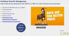 Telekom Netz ► 400MB mit 100 Minuten für 2,99€ + 25€ Amazon Gutschein