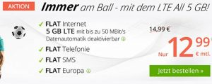 winSIM LTE Tarife mit bis zu 10 GB - Juli 2018