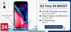 o2 Free M Boost (bis zu 20 GB LTE) Angebote August 2018