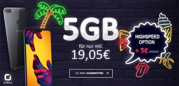 5GB OTELO Fan Tarif (LTE) ab 18,48€ mit Smartphone ab 1€
