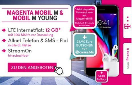 Telekom Magenta Mobil M / M Young mit TOP Smartphone ab 1€
