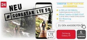 Congstar Allnet Flat Tarife (LTE) mit Huawei P20 lite für 1€