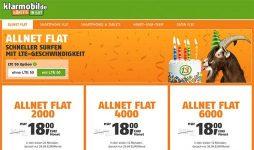 Klarmobil Allnet Flat LTE Tarife ab 18€ / Monat