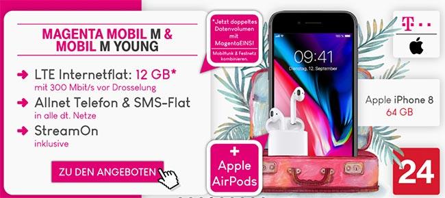 Telekom Magenta Mobil M / M Young mit iPhone X für 199€
