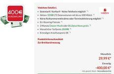 Vodafone DataGO M & DataGO L mit bis zu 400€ Auszahlung