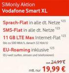 11GB LTE Vodafone Smart XL mit 648€ Auszahlung (19,99€ / Monat)