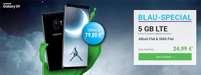 Blau Allnet XL (5GB LTE) mit Galaxy S9 für 79€