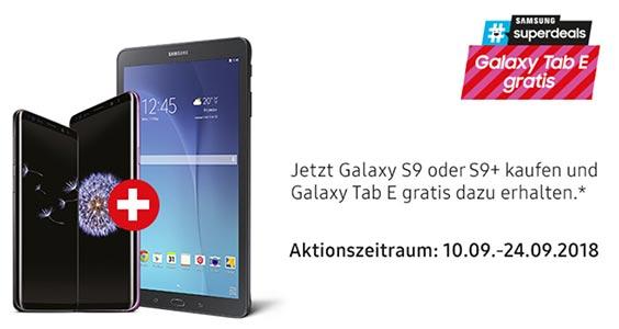 AKTION: Gratis Galaxy TAB E beim Kauf eines Galaxy S9 / S9+