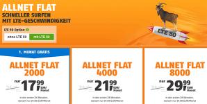 Klarmobil Allnet Flat Telekom LTE Tarife (bis zu 8GB) ab 17,99€ / Monat