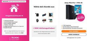 Telekom MagentaZuhause Tarife mit bis zu 260€ Auszahlung oder 4k TV / Sony Playstation 4 Pro
