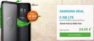 Blau Allnet XL (5GB LTE) mit Galaxy S9 für 49€