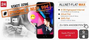8GB otelo Allnet-Flat Max - Angebote September 2018