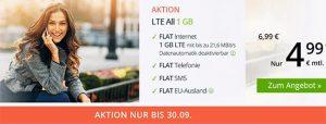 winSIM LTE Tarife mit bis zu 10 GB - September 2018
