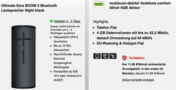 Mobilcom Debitel Comfort Allnet Flat (4GB) für 11,99€ | mit Hardware ab 4,95€