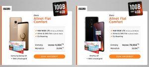 10GB otelo Allnet-Flat Comfort (LTE) ab 24,99€ mit Galaxy S9 für 4,95€