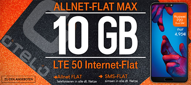 10GB otelo Allnet-Flat Max ab 29,99€ (LTE oder UMTS) mit Galaxy S9 ab 1€ uvm.