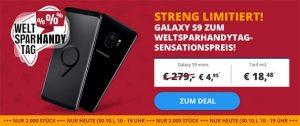 5GB OTELO Fan Tarif (LTE) ab 18,48€ mit Samsung Galaxy S9 für 4,95€