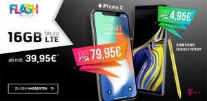 Telekom Magenta Mobil M / M Young mit Apple iPhone X ab 79,95€