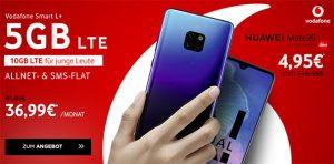 5GB LTE Vodafone Smart L Plus für 36,99€ mit Apple iPhone 8, Galaxy S9, P20 Pro ab 4,95