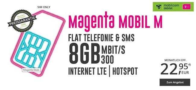 MD Telekom Magenta Mobil M (Young) für rechnerisch 22,95€ | bis zu 11GB LTE