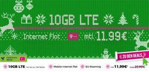 10GB LTE Telekom Internet Flat ab 11,99€ + Bluetooth Lautsprecher | mobiler LTE Router ab 1€
