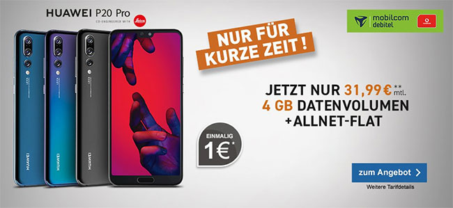 4GB Mobilcom Debitel Comfort Allnet mit Apple iPhone X ab 79€