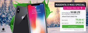 Telekom Magenta Mobil M / M Young mit Apple iPhone X ab 79€ | iPhone Xr ab 49€