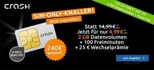Crash Smartphone Flat 2000 für 4,99€ * Vodafone Netz *