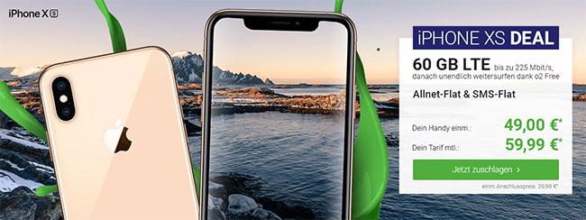 o2 Free L Boost (bis zu 60GB LTE) mit Apple iPhone Xr (128GB) für 4,95€