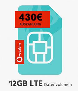 Vodafone DataGO M & DataGO L mit bis zu 430€ Auszahlung
