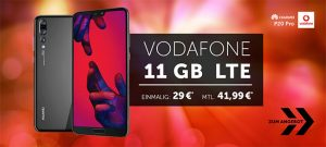 11GB LTE Vodafone Smart XL ab 41,99€ mit Galaxy S9, Huawei P20 Pro ab 4,95€