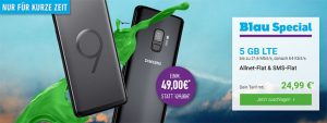 Blau Allnet XL (5GB LTE) ab 19,99€ mit Samsung Galaxy S9 für 49€