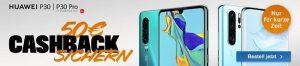 Huawei P30 / P30 Pro Smartphone mit 50€ Cashback von Logitel