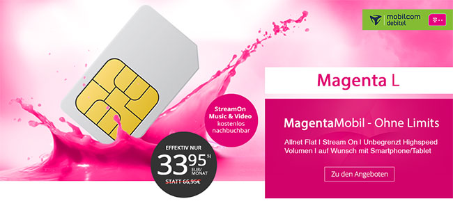 MD Telekom Magenta Mobil L für rechnerisch 33,95€