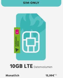 10GB Telekom LTE Internet Flat für 15,99€