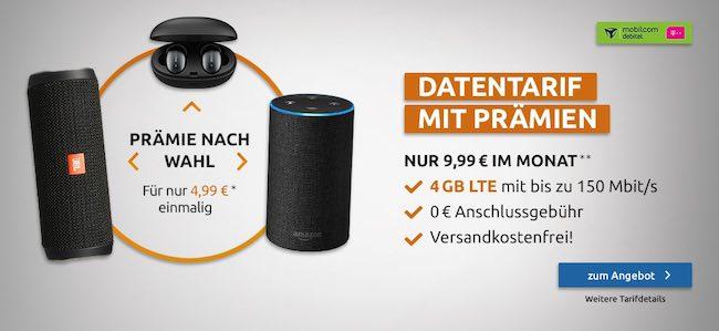 4GB Telekom LTE Internet Flat für 9,99€ | mit Amazon Echo 2 für 4,99€