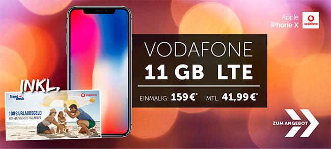 11GB LTE Vodafone Smart XL ab 41,99€ mit Galaxy S9, Huawei P20 Pro ab 4,95€