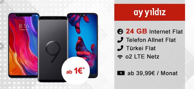 24GB LTE Ay Yildiz Ay Allnet MAX ab 39,99€ mit TOP-Smatphones ab 1€
