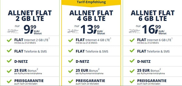 FreenetMobile Tarife im Vodafone LTE Netz ab 9,99€   Angebote 2019