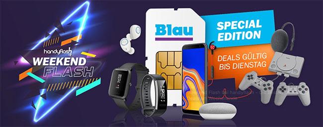 3GB Blau Allnet L für 7,99€ | 5GB Allnet XL für 12,99€ mit reichlich Hardware-Zugabe ab 1€