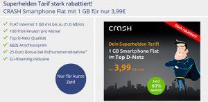 Klarmobil Smartphone Flat 1GB für 3,99€